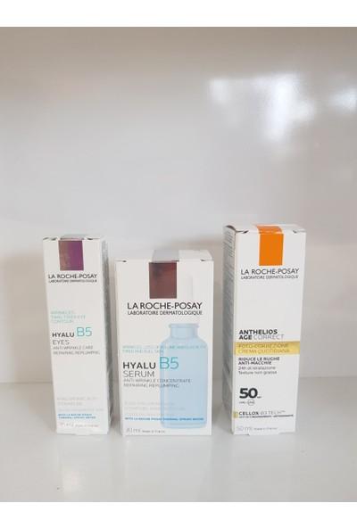 La Roche-Posay Hyalu B5 Serum 30 ml + Anthelıos Age Correct 50 ml +Hyalu B5 Yeux 15 ml