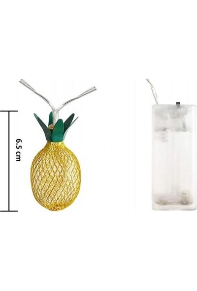 My Black Dekoratif 3D Ananas Ampüllü LED Aydınlatma 10 Ledli