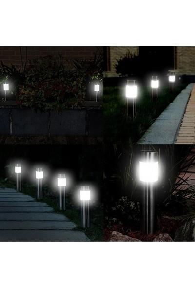 My Black Boru Görünümünde Metal Gövdeli Güneş Enerjili Solar Bahçe Lambası 8 Li Set
