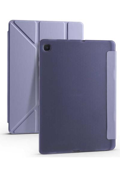 Zore Samsung Galaxy Tab A7 10.4 T500 2020 Tri Folding Smart With Pen Standlı Kılıf Zaya Smart