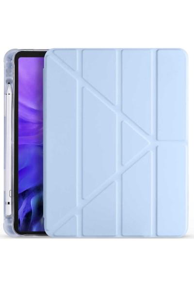 Zore Apple iPad Air 10.9 2020 Tri Folding Smart With Pen Standlı Kılıf Zaya Smart