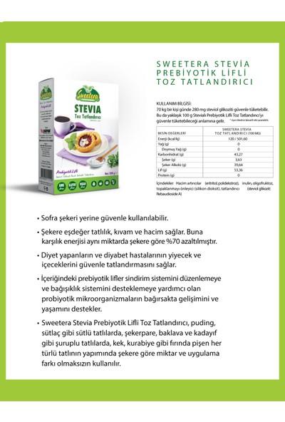 Sweetera Stevia Prebiyotik Lifli Tatlandırıcı Toz 500 gr 2'li + El Temizleme Mendili