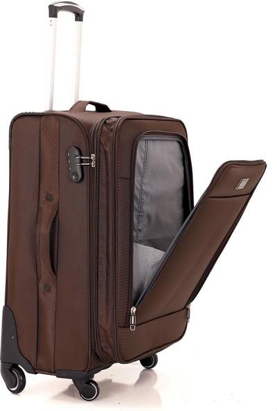 Mçs V095 Lux Kumaş 3'lü Valiz Seti