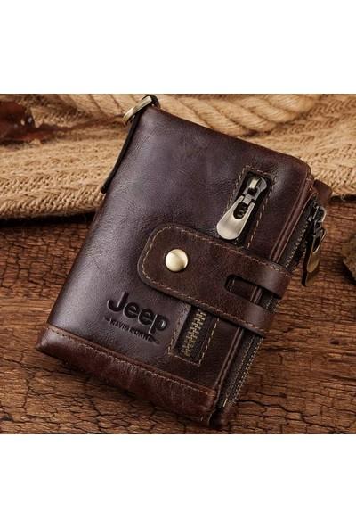 Jeep Amerikan Tasarım El Yapımı Deri Cüzdan-Rfıd Korumalı(Kredi Kart Kopyalanmasına Karşı)