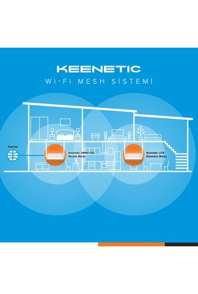 Keenetic N300 Wifi Mesh Sistem Kiti (Omni Dsl+Lite)