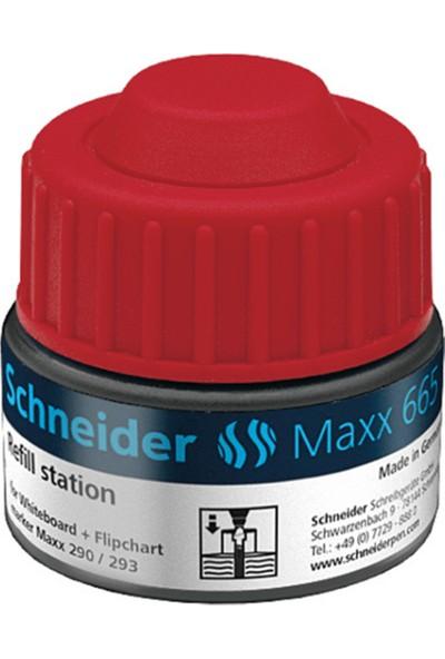 Schneider Maxx 665 Markör Tahta Kalemi Mürekkebi Kırmızı 30 ml