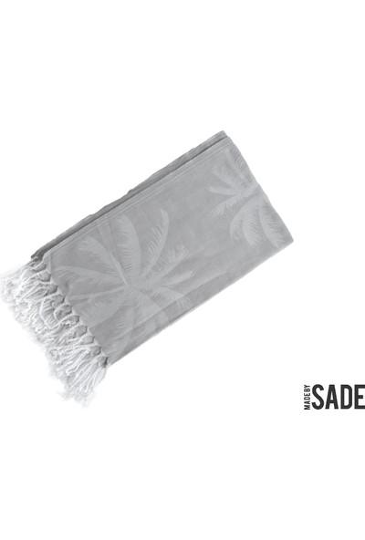 Made By Sade Peştemal Gri Palmiye