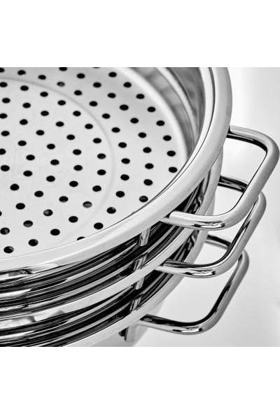 Karaca Mutfaksever Çelik 2 Katlı Buhar Tenceresi