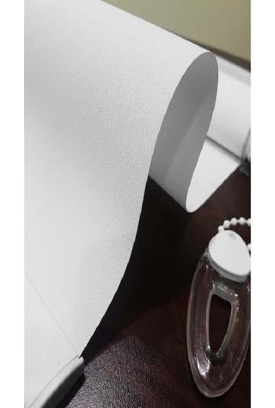 Güneş Perde Mat Polyester Beyaz Stor Perde
