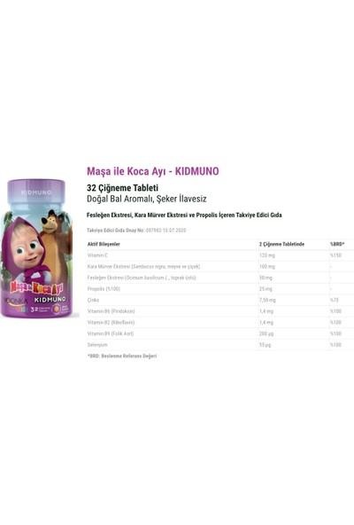 Voonka Bal Aromalı Kidmuno 32 Çiğneme Tableti + Yetişkinler Için D Vitamini 102 Kapsül