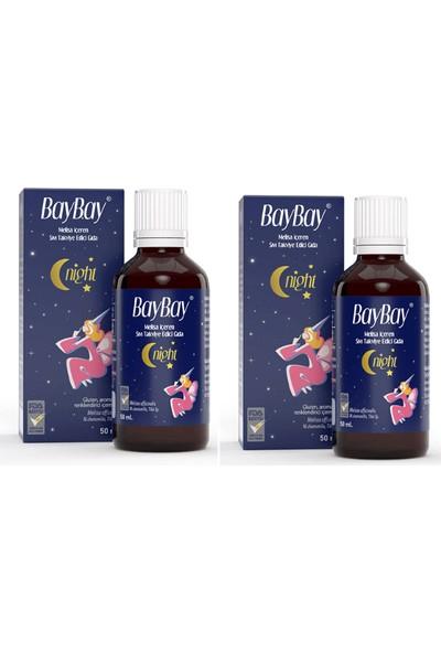 Baybay Night Da mla 50 ml X2 Adet Melisa Içeren Takviye Edici Gıda