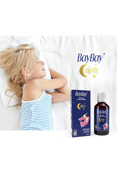 Baybay Night Da mla 50 ml X4 Adet Melisa Içeren Takviye Edici Gıda