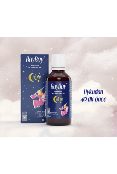 Baybay Night Melisa Içeren Takviye Edici Gıda 50 ml + Venatura Yetişkinler Için B12 Vitamini 30 Tablet