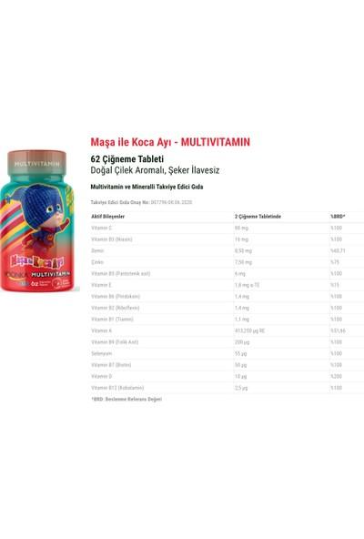 Baybay Da mla Night Melisa Içeren Takviye Edici Gıda 50 ml + Maşa İle Koca Ayı Multivitamin 62 Çiğneme Tableti