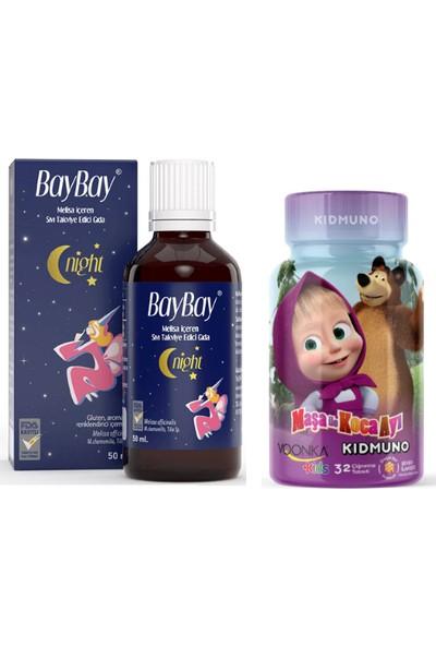 Baybay Melisa Içeren Takviye Edici Gıda 50 ml + Bal Aromalı Kidmuno 32 Çiğneme Tableti