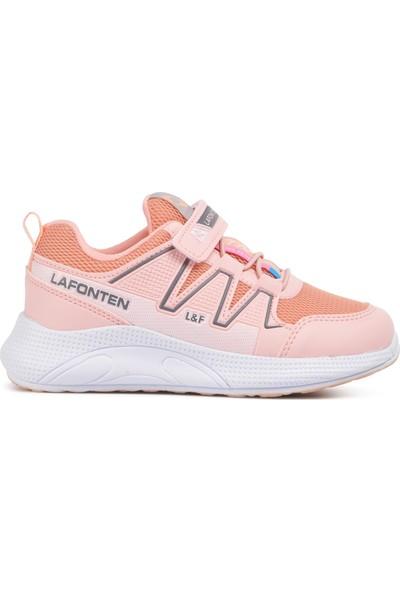 Lafonten 703 Pudra-Beyaz Çocuk Spor Ayakkabı