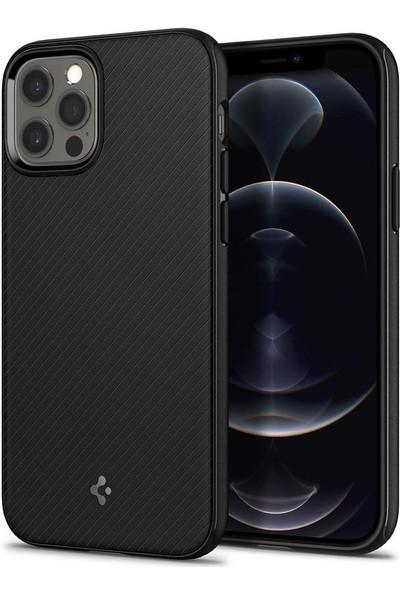 Spigen Apple iPhone 12 / iPhone 12 Pro Kılıf Mag Armor (MagSafe Uyumlu) Matte Black - ACS01865