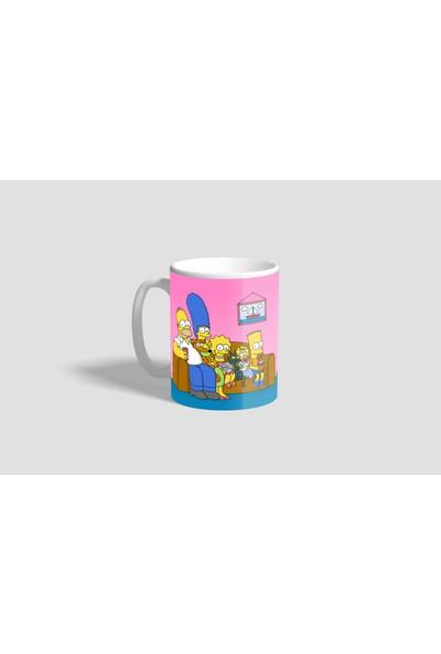 Promosyon Yaptır Homer Simpson Baskılı Kupa Bardak