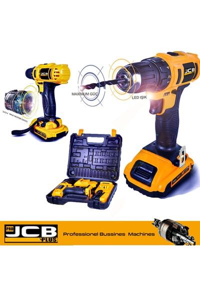 Pro Jcb Plus JSR3650 Bakır Şanzuman Şarjlı Vidalama Matkap Çantalı Çift Akülü