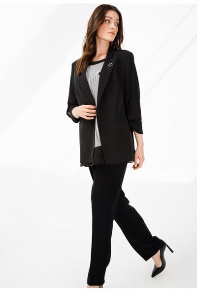 Ekol Kadın Önü Açık Ceket 6056506 Siyah