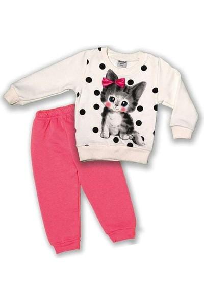 Büyümüş Baby Kids Sevimli Kedili Ikili Takım