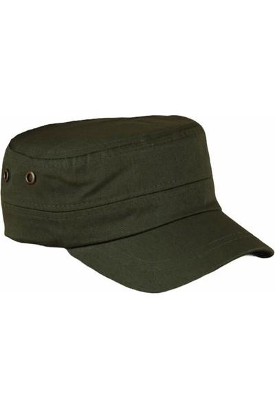 Erkek Haki Yeşil Castro Kasket Şapka Kep
