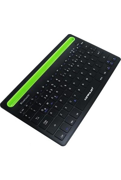 Konfulon Samsung Galaxy Tab S6 Lite 10.4 SM-P610 Uyumlu V4 Bluetooth 5.0 Standlı Türkçe Q Klavye