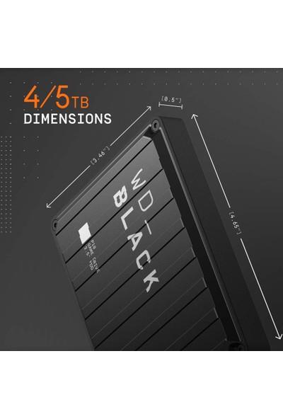"""WD Black P10 Game Drive 5TB 2.5"""" Taşınabilir Disk - Playstation Xbox PC & Mac Uyumlu - WDBA3A0050BBK-WESN (Yurt Dışından)"""