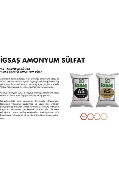 İgsaş Amonyüm Sulfat %21 N As Ec Fertılızer Bahçe Çiçek Ağaç Bitki Besini Yeşillendirici Geliştirici Azotlu Kükürtlü Üst Çim Şeker Gübresi 50 Kg