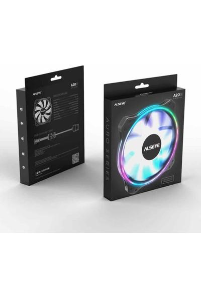 Alseye Auro 200MM LED Rgb+Kumandalı Kasa Fanı