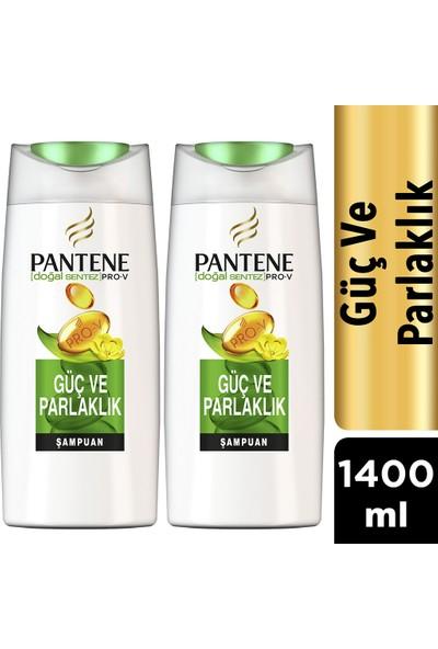 Pantene Şampuan Doğal Sentez Güç ve Parlaklık 2*700 ml