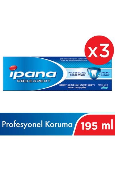 İpana Pro-Expert Profesyonel Koruma Diş Macunu 195 ml ( 65ML x 3 )