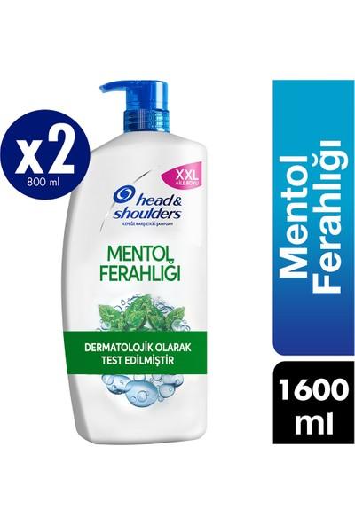 Head & Shoulders Kepek Karşıtı Şampuan Mentol Ferahlığı 1600ml (800ml*2)
