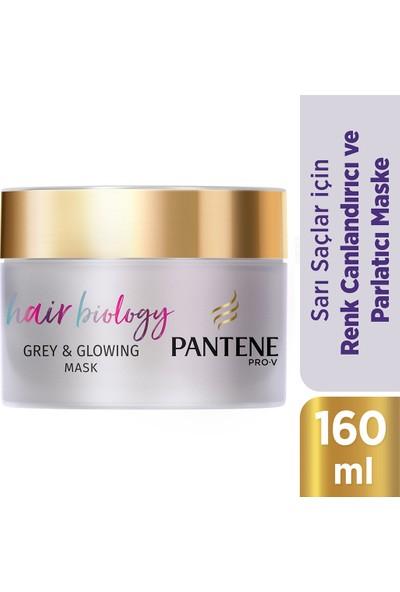 Pantene Hair Biology Renk Canlandırıcı ve Parlaklaştırıcı Maske Sarı Saçlar İçin Mor Şampuan Sonrası 160ML
