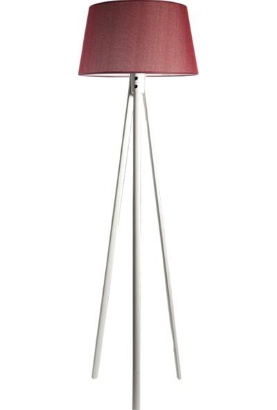 Ağaç Ustası Oval 3 Ayak Tripod Lambader Abajur Avize Aydınlatma Ahşap Beyaz Ağaç Country Dekor Lamba Aplik Masif Doğal