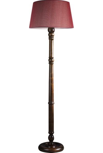 Ağaç Ustası Torinio Torna Bacak Tripod Lambader Abajur Avize Aydınlatma Ahşap Ceviz Ağaç Country Dekor Lamba Aplik Masif Doğal
