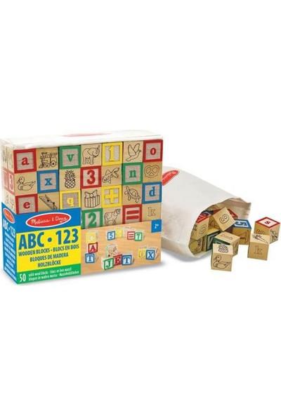 Melissa&Doug Ahşap Bloklar ABC-123