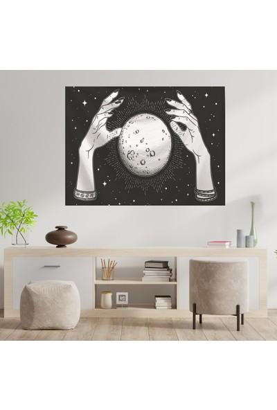 Markamindirim Duvar Halısı El ve Ay Siyah 70X100 cm