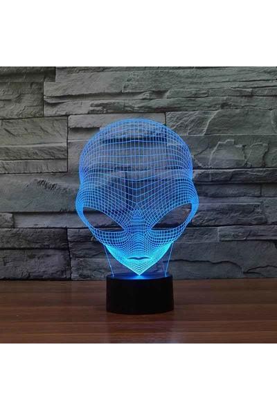 By-Lamp 3 Boyutlu Alien Lamba