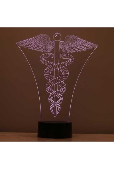 By-Lamp 3 Boyutlu Tıp Sembolü LED Lamba