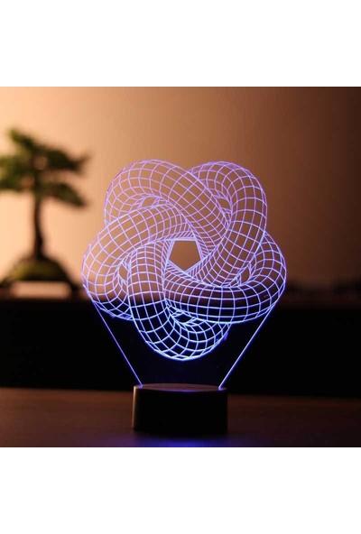 By-Lamp 3 Boyutlu Torus Spiral LED Lamba