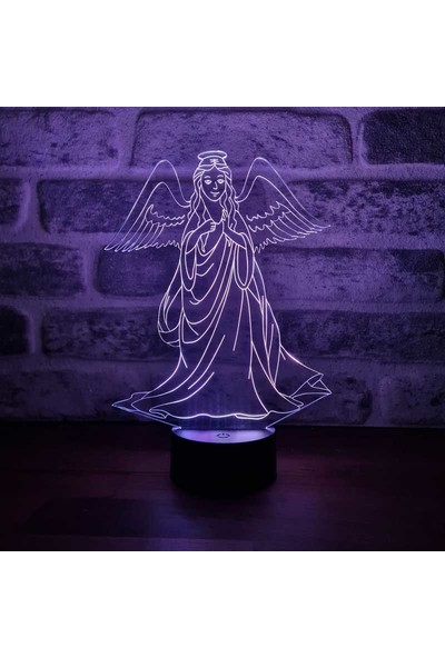 By-Lamp 3 Boyutlu Melek LED Lamba