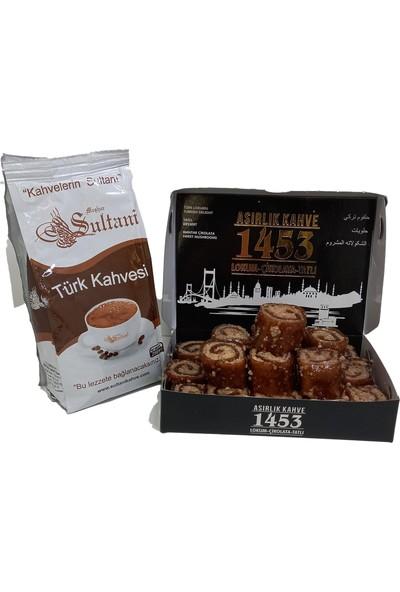 Asırlık Kahve 1453 Sultani Türk Kahvesi 250 gr ve Fındıklı Pestil Tatlısı 450 gr - 2 Li Avantaj Paket