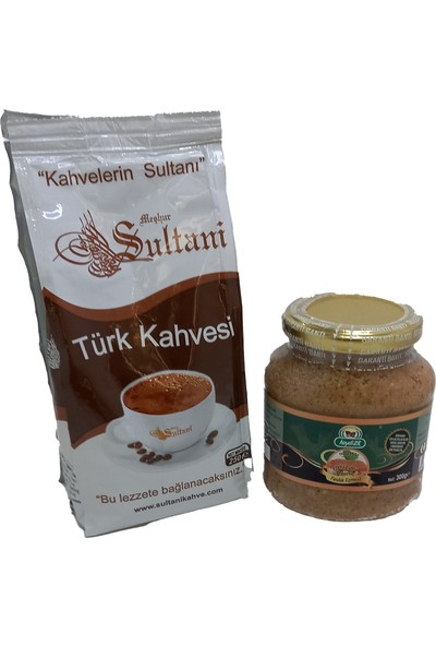 Sultani Türk Kahvesi 250 gr + Fındık Ezmesi 300 gr