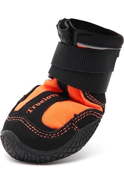 True Love Suya Dayanıklı, 2'li Turuncu Köpek Ayakkabısı