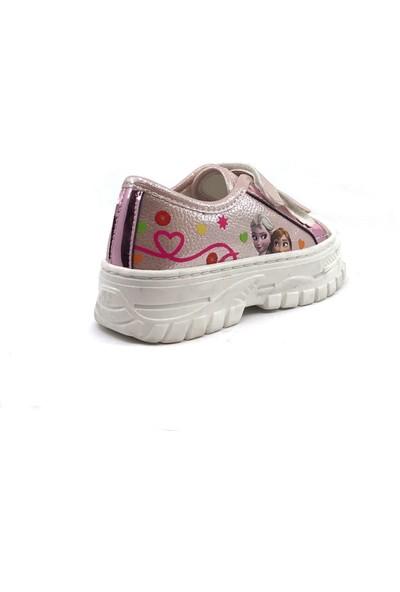 Sema Pudra Resimli Günlük Kız Çocuk Spor Ayakkabı