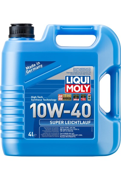 Liqui Moly Super Leichtlauf 10W-40 Motor Yağı 4Lt (Üretim yılı:2020) 9504