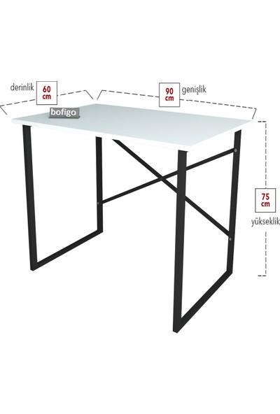 Bofigo 60X90 cm Çalışma Masası Bilgisayar Masası Ofis Ders Yemek Masası Beyaz