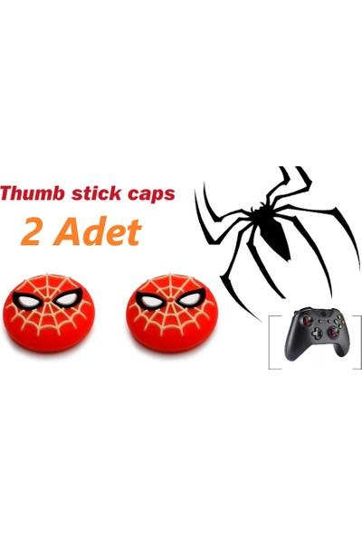 Feza Xbox One 2 Adet Spiderman Kabartma Desenli Analog Başlığı