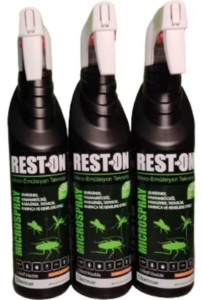 Entosav Reston Micro Sprey 400 ml Portakal Kokulu Genel Haşere Ilacı 3 Adet